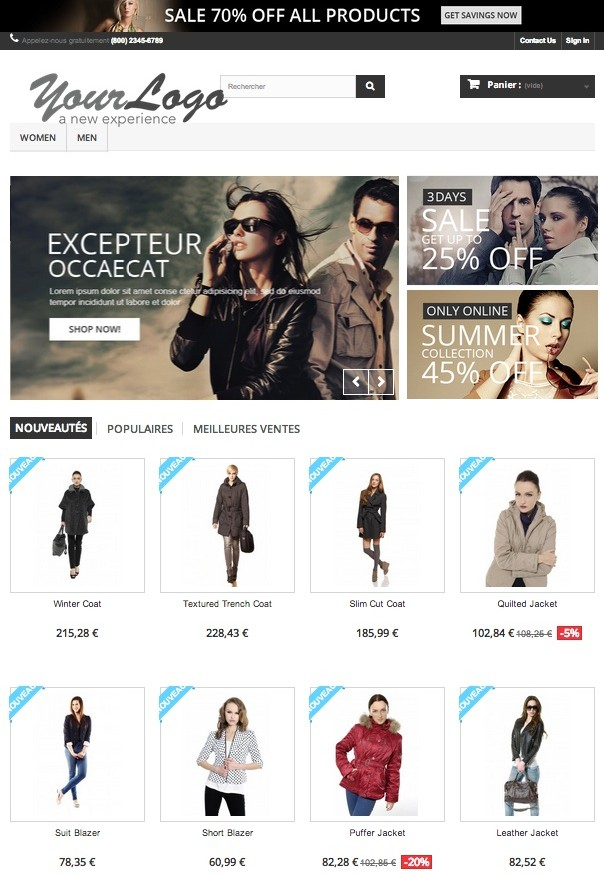 e-commerce-Prestashop-front